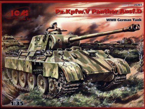 ICM Pz.Kpfw.V Panther Ausf.D WWII German Tank Panzer 1:35 Bausatz Kit 35361