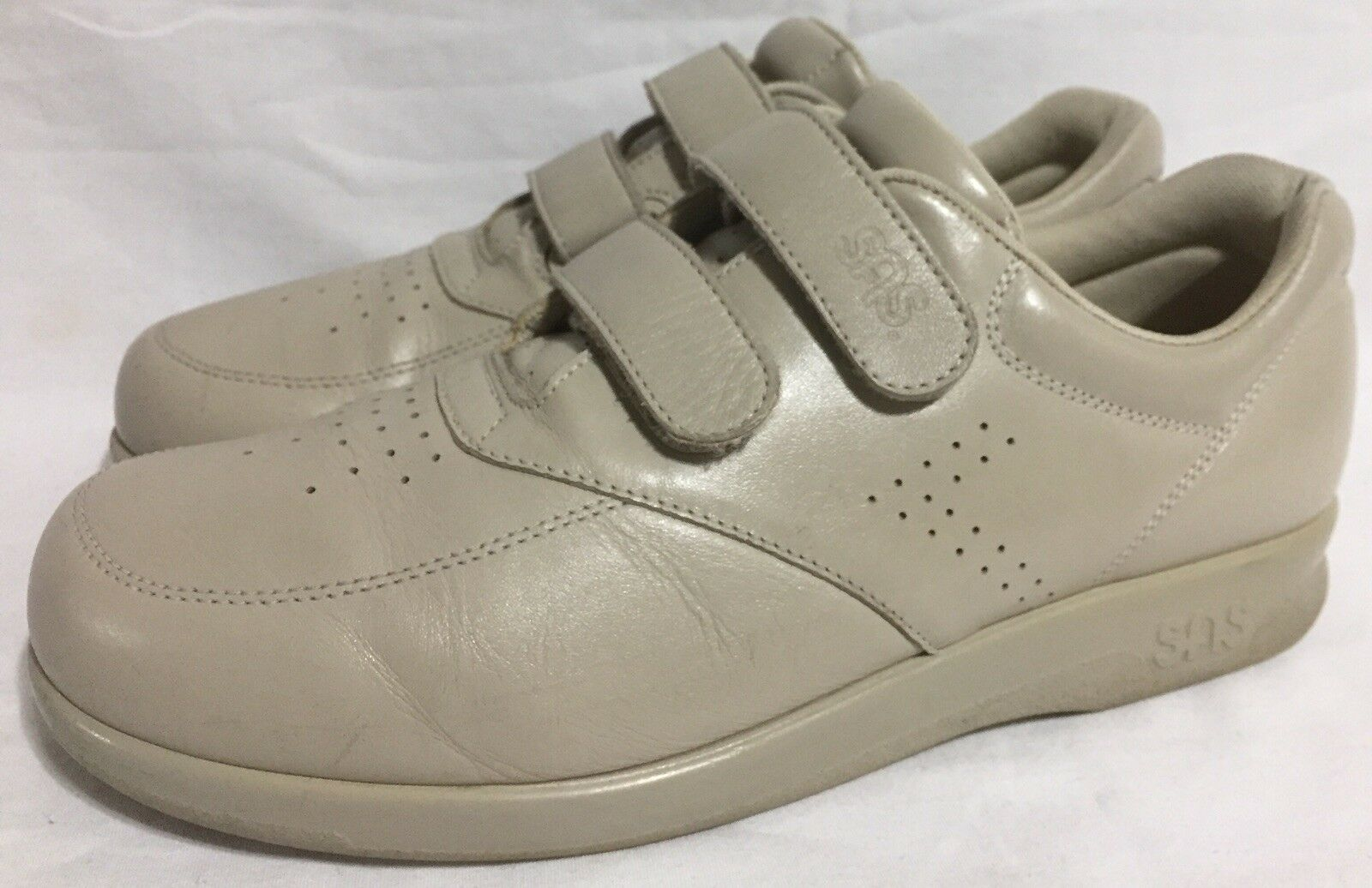 SAS Walking shoes Tan Leather Tripad Comfort Orthopedic Hook&Loop 2Z1 Women's 9S