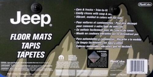 Jeep Elite With Logo Front Rear Rubber Floor Mats 4 Pcs Set Car Truck SUV Mopar