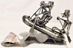 RARE Hinz & Kunst Original Steampunk Raft Metal Art Sculpture Statue Figures