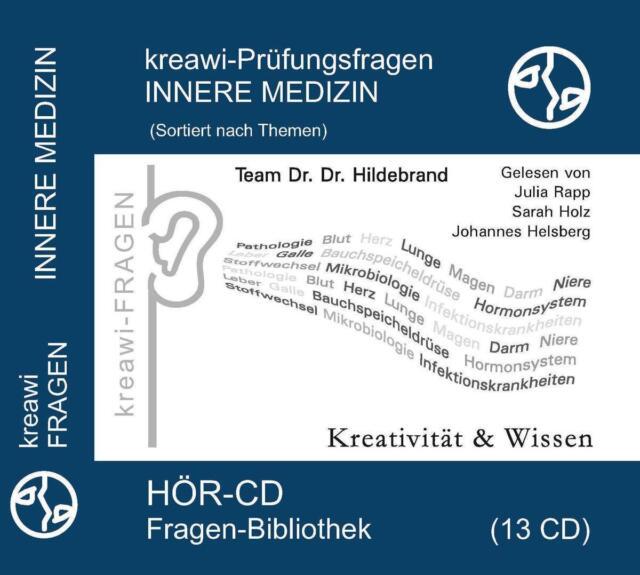 Kreawi-Prüfungsfragen Innere Medizin, 12 Audio-CDs von Hartmut Hildebrand (2015)