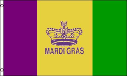 Mardi Gras Traditional Party Banner 5/'x3/' Flag !