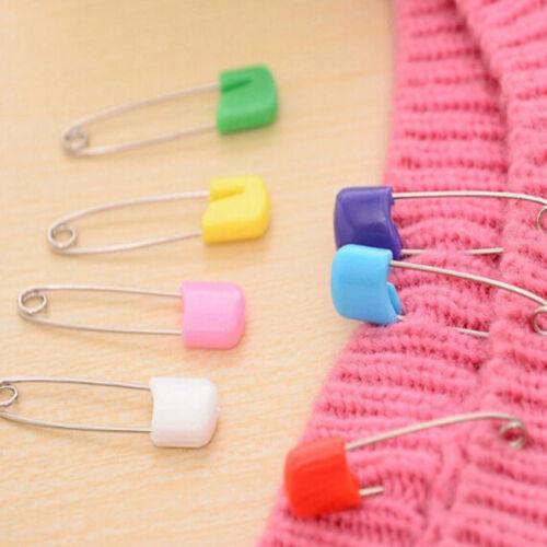 Holder Locking Brooch Needlework Supplies Cloth Sewing Tools Head Safety Pins FM