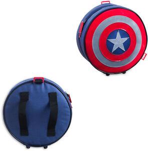 pretty nice 2a132 8340d Details about Borsetta porta merenda scudo Marvel Capitan America H 23 x L  22 x P 9 cm circa