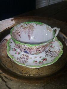 Vintage Beautiful Japanese Tea Cup & Saucer. EUC.