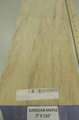 "Maple Karelian wood veneer sheet 5/"" x 8/"" raw with no backer 1//42 thickness /""A/"""