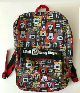 5f3833bae49 WALT DISNEY WORLD Mickey Mouse Children s Backpack Vintage New With ...