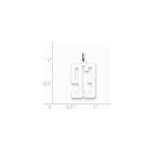 Sterling Silver Petite allongé Pol numéro 93 Charme Pendentif fabricants Standard prix de détail $57