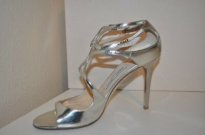 Jimmy Choo LANG Silver Leather Strappy