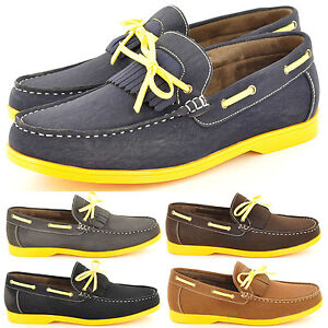 New-Mens-Casual-Formal-Smart-Boat-Shoes-with-lace-Detail-Size-6-7-8-9-10-11