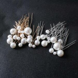 18Pcs Wedding Pearl Hair Pins Bridal Pearl Rhinestone Hair Pin Hair Accessories
