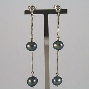 White-Gold-Earrings-750-18K-Hanging-with-Pearls-Grey-of-Water-Dolce
