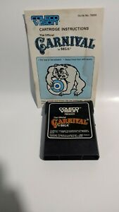 Carnival-Colecovision-1982-By-Coleco-Game-W-Manual-Clean-Tested