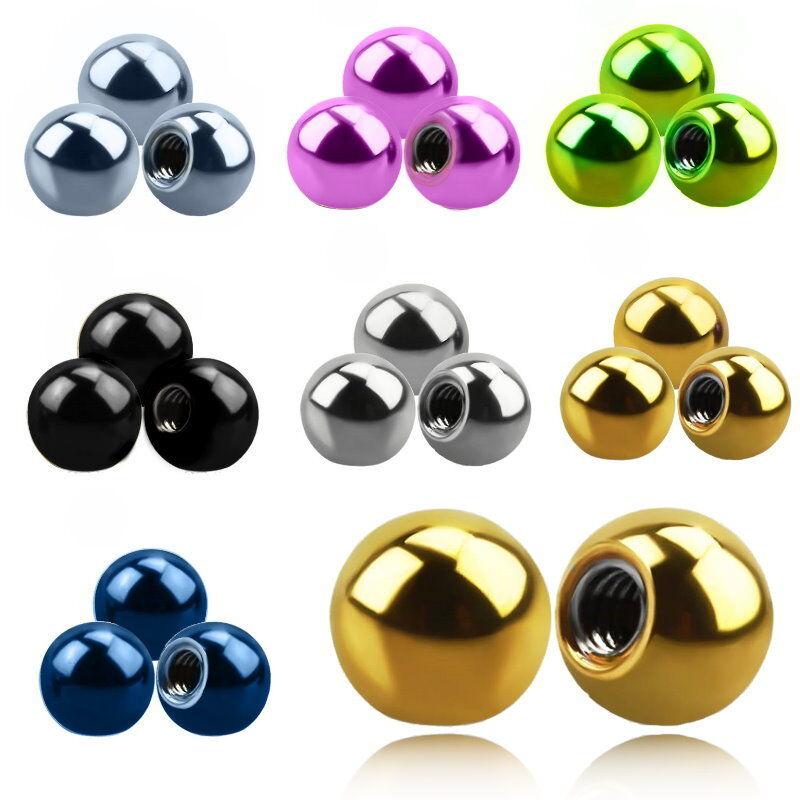 Synthetischer Opal Diverse Piercingkugel Ball Ersatz 1,6 mm  Ø Schraubkugel