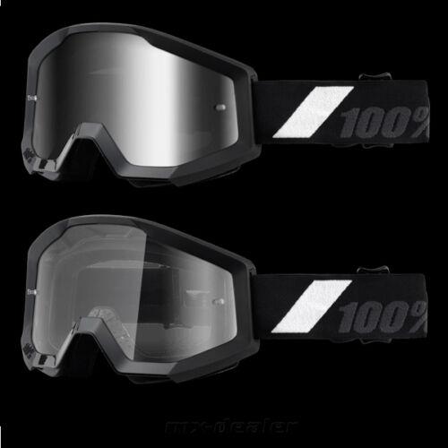 100/% Percent Goliath Strata Black Glasses motocross enduro downhill cross Bmx