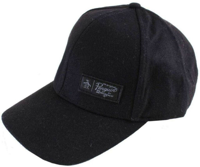 Original Penguin Wool Baseball Cap Mens Fashion Hat DESIGNER Black ... f434d66580d