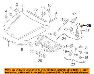 BMW OEM 07-12 328i Hood-Release Cable Holder 61136938788 | eBay