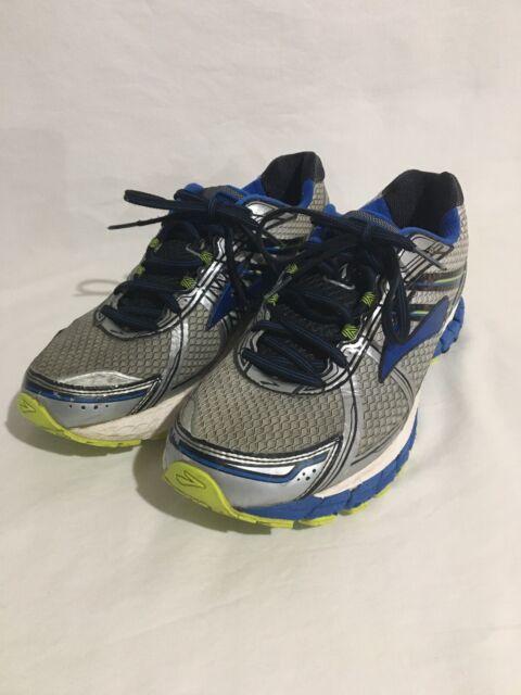 Brooks Adrenaline GTS 15 Men's Sz 10.5 D Athletic Running Shoes Blue Gray Neon