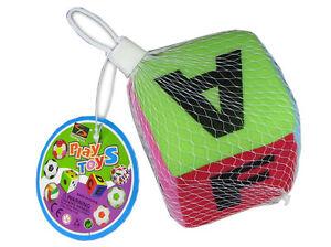 Spielwürfel weich m.Buchstaben und Glöckchen innen Baby-kleinkind<wbr/>erspielzeug *1