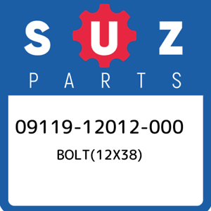 09119-12012-000-Suzuki-Bolt-12x38-0911912012000-New-Genuine-OEM-Part