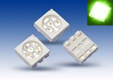 S925 - 20 Piezas SMD LED PLCC-6 5050 verde 3 chips LED Verde