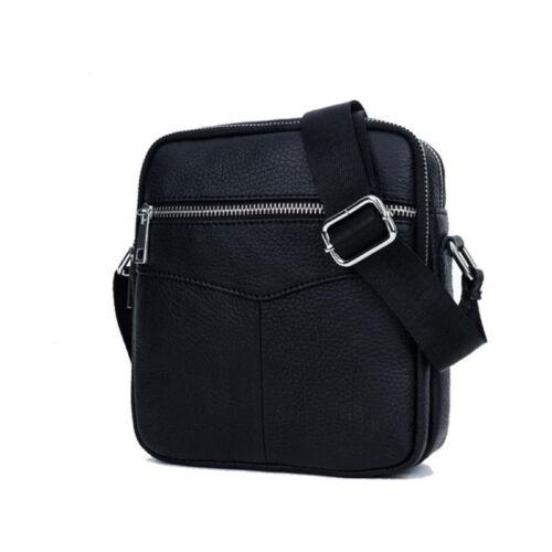 Business Casual Men Genuine Leather Travel Shoulder Messenger Bag Handbag New #B