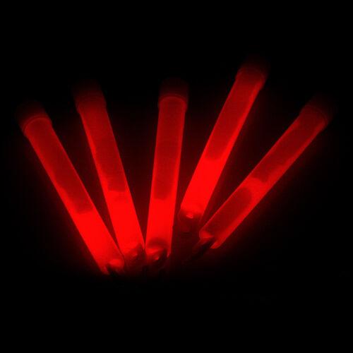 12 Bänder Glow stick Leuchtstäbe in rot 12 Knicklichter,150x15mm Knicklicht