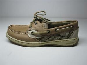 SPERRY-TOP-SIDER-BEIGE-BLUEFISH-2-EYE-LINEN-OAT-WOMEN-UK-2-5-M-EUR-35-M-5M