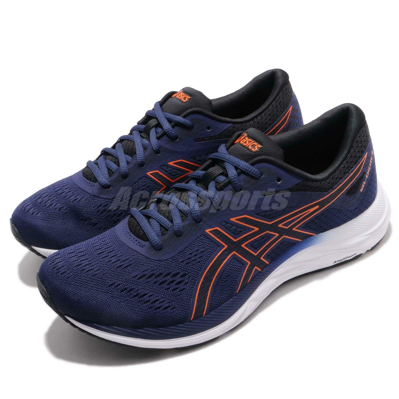 Asics Gel-Excite 6 Indigo blueee orange  Men Running shoes Sneakers 1011A165-400  save up to 30-50% off