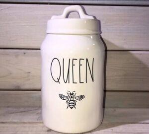 Rae-Dunn-by-Magenta-QUEEN-Bee-Canister-Ceramic-LL-NWT-Farmhouse-Decor