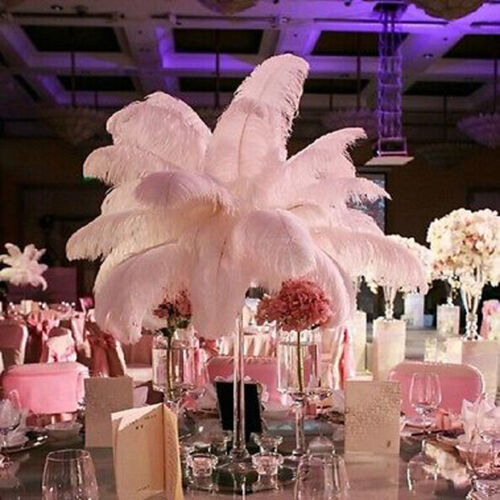 50//10PCS Ostrich Feathers Plume Centerpiece Wedding Party Decor 30-35cm UK*