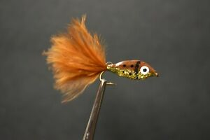 2 Flies BROWNIE Epoxy Minnow Fly Fishing Flies Size 2