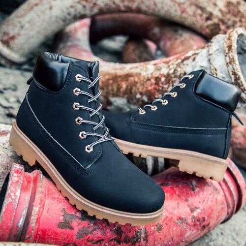 Women/'s Winter Martin Ankle Boots Casual Outdoor Work Waterproof Lace up Shoes