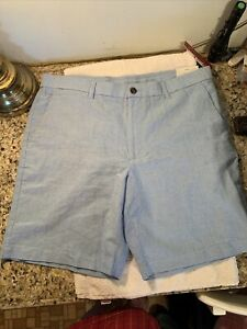 Perry Ellis Portfolio Pantalones Cortos Cintura En Azul 38 Nuevo Con Etiquetas Golf Resort Ebay