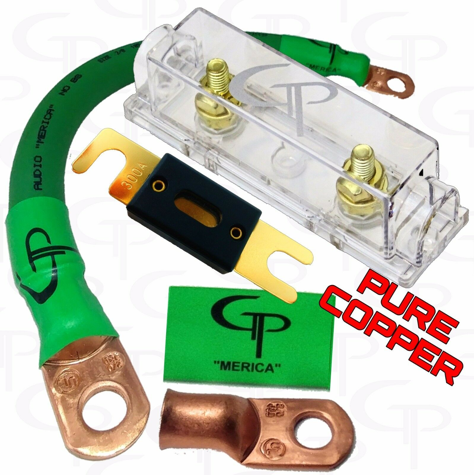 Massive Audio G4 - Install Kit Amp 4 Gauge 100 Copper Maxi Fuse With Holder  ... for sale online | eBayeBay