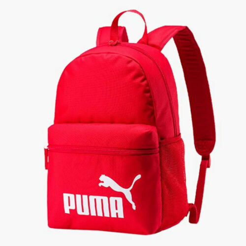 Puma Phase Small Kids Sports School College Small Backpack Rucksack Bag Red