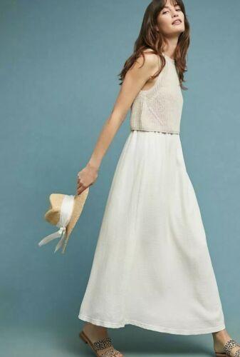 Anthropologie Moth Layered Sandstone Maxi Dress Si