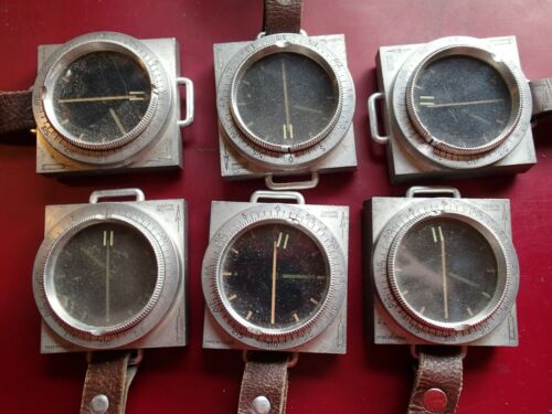 ONE VINTAGE WW II MILITARY COMPASS SUUNTO  with  STRAP FINLAND FINNISH WORKING