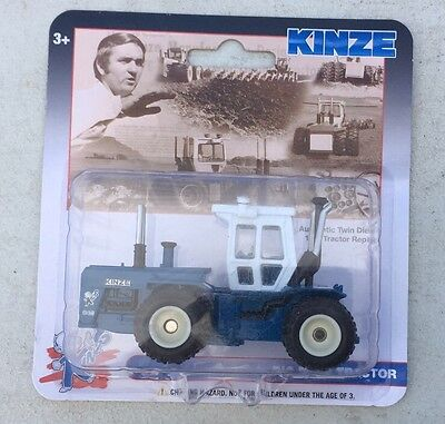 1:64 SpecCast *KINZE* Model 640 *BIG BLUE TRACTOR* 4WD w//DUALS *NIP!*