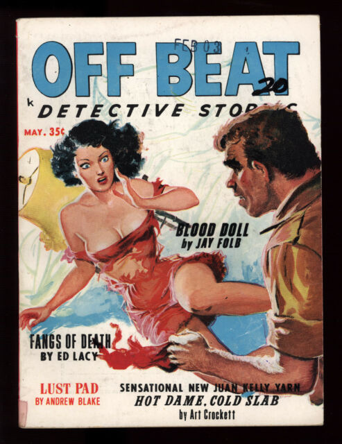 Off Beat Detective Stories May 1963 Very Sexy Cover Ed Lacy Sleaze Crime GGA VG+
