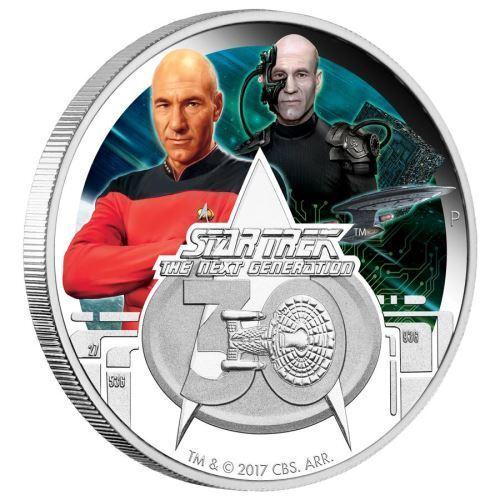 2017 Star Trek The Next Generation 30th Anniversary PICARD 1oz $1 Silver Coin