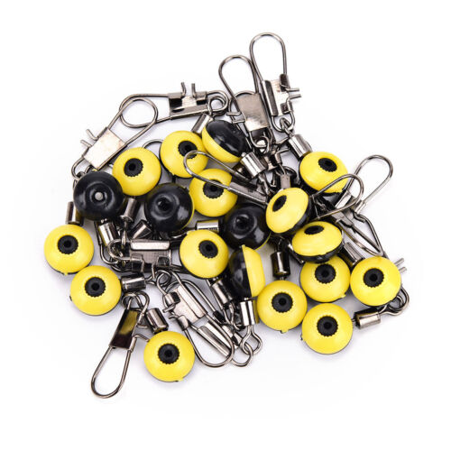Details about  /20Pcs space beans fishing connector float connector rolling fishing swivel SE