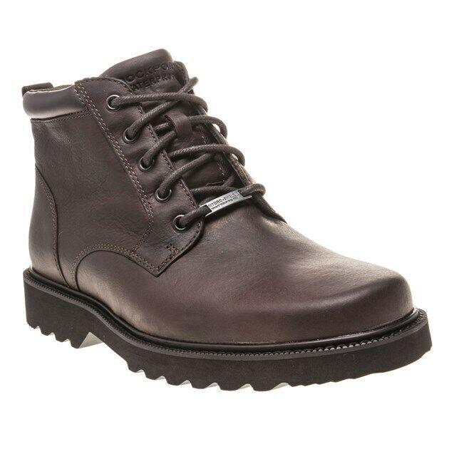 New Mens Rockport braun Northfield Plain Toe Leather Stiefel Chukka Lace Up