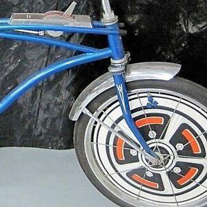 2-White-Western-Auto-Flyer-Buzz-Bike-Muscle-Bike-Bicycle-FORK-DART-DECAL-STICKER