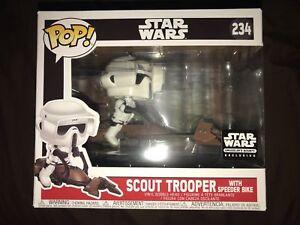 FUNKO-POP-Star-Wars-Scout-Trooper-with-Speeder-Bike-234-Smugglers-Bounty