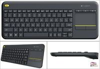Logitech Keyboard Wireless Touchpad All In One Pc Tv Connected Computer Internet