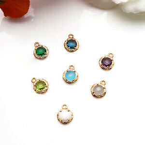 Gemstone-Connector-Round-Gold-Charm-Necklace-Pendants-Chandelier-Finding-50257