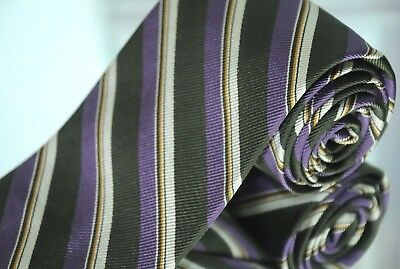 Acquista A Buon Mercato Robert Talbott Best Of Classe Uomo Cravatta Verde Viola Perla Di Seta Striscia