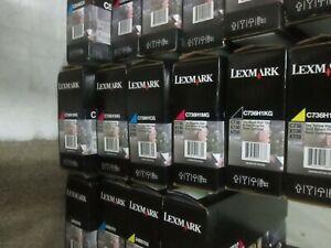 Genuine-Lexmark-C736H1YG-HIGH-YIELD-YELLOW-Toner-C736-X736-X738