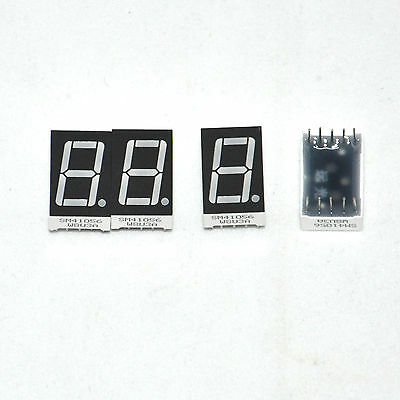 """4 PCS 1 Digit 0.56"""" RED 7 SEGMENT LED DISPLAY COMMON ANODE 41056 For Arduino"""
